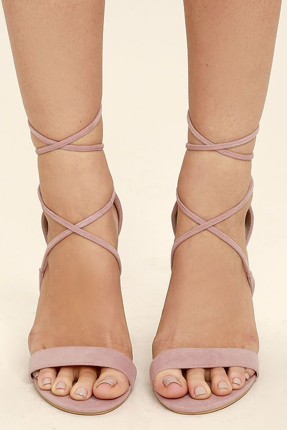 1e21df91328 Aimee Dusty Rose Suede Lace-Up Heels | Shoes | Favoritos