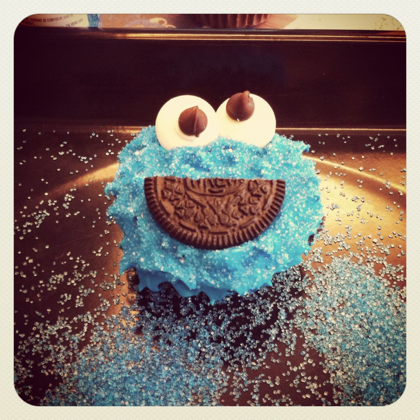 DIY Cookie Monster Cupcakes For My 20th Birthday... You