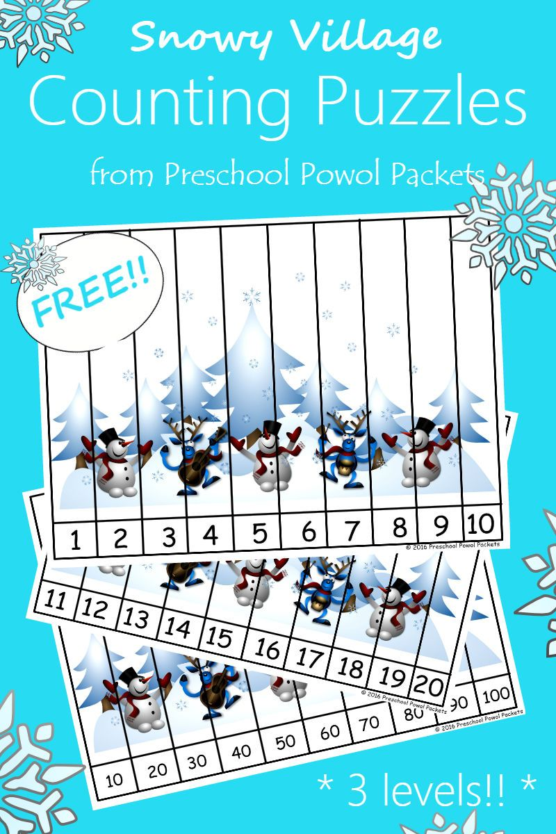 FREE} Snowman Counting Puzzles   Pinterest   Counting puzzles ...