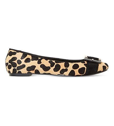 DUNE Heston leopard-print ballet flats