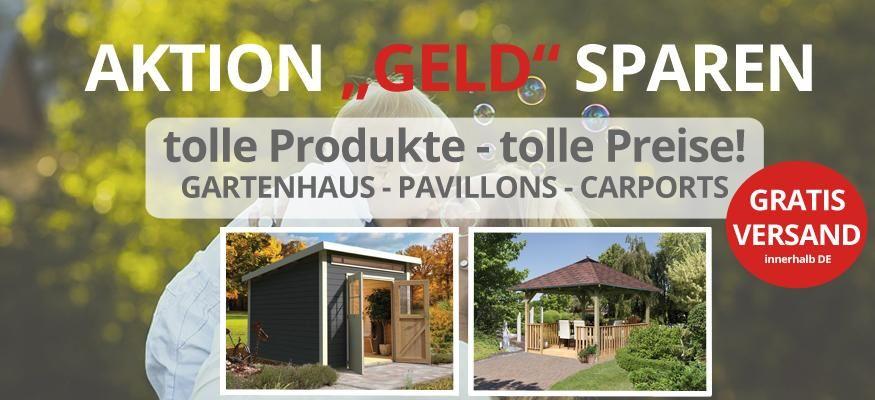 Gartenhaus kaufen: Großer Gartenhaus Abverkauf: Holz Gartenhaus