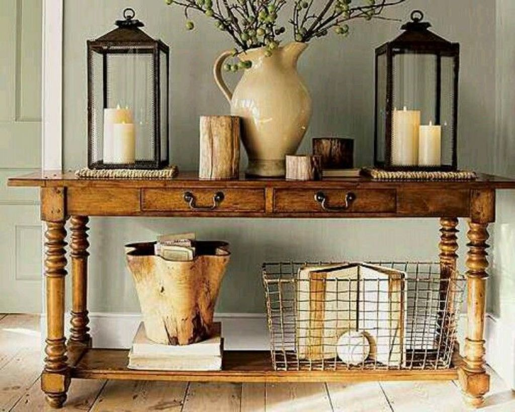 Rustic console table accessories furniture pinterest rustic rustic console table accessories geotapseo Image collections