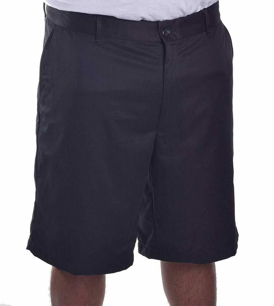 Greg Norman Shark Mens Flat Front Shorts 32 Deep Black Fashion Clothing Shoes Accessories Mensclothing Shorts Eba Greg Norman Microfiber Shorts Shorts