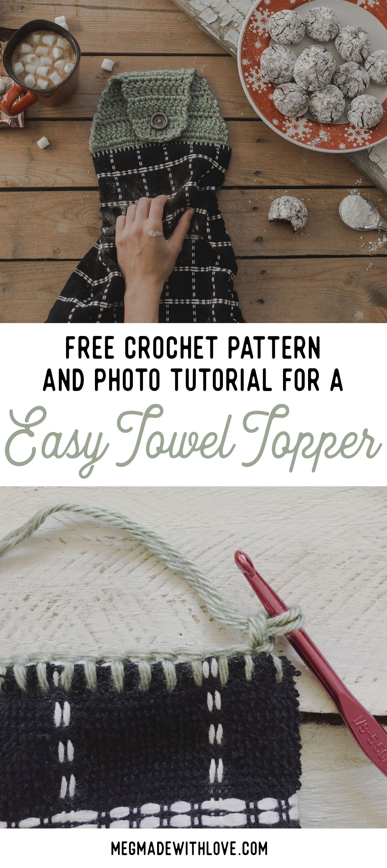New Free Crochet Pattern for an Easy Towel Topper