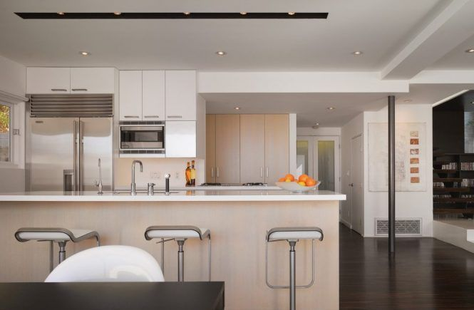Contemporary Track Lighting Kitchen Shaped