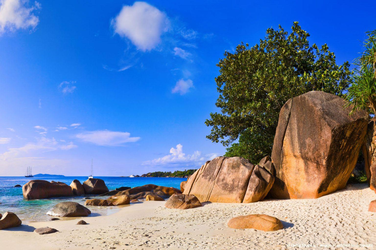 Beach Anse Lazio at Seychelles - nature background | Beach ...