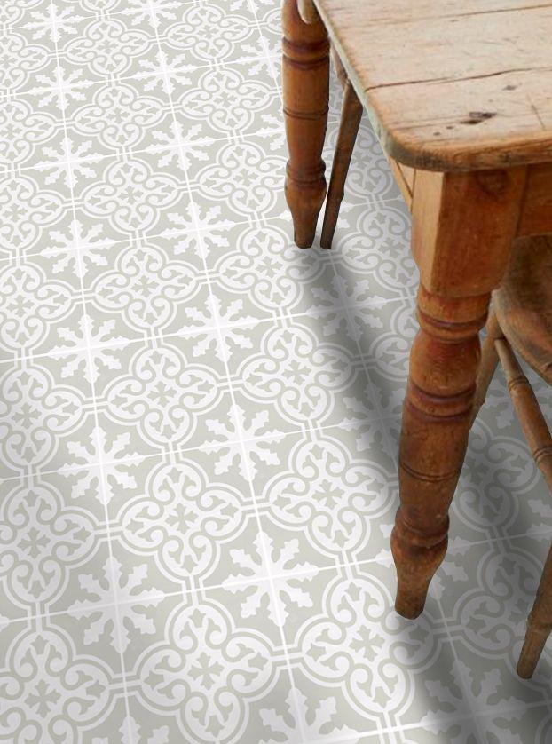 Vinyl Floor Tile Sticker Floc Silver Birch House Ideas