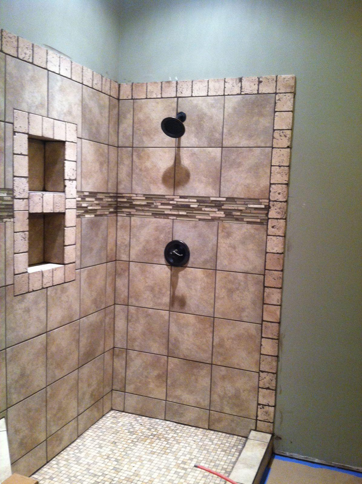 Master Bathroom Tiled Shower | Tile bathroom, Bathroom ...