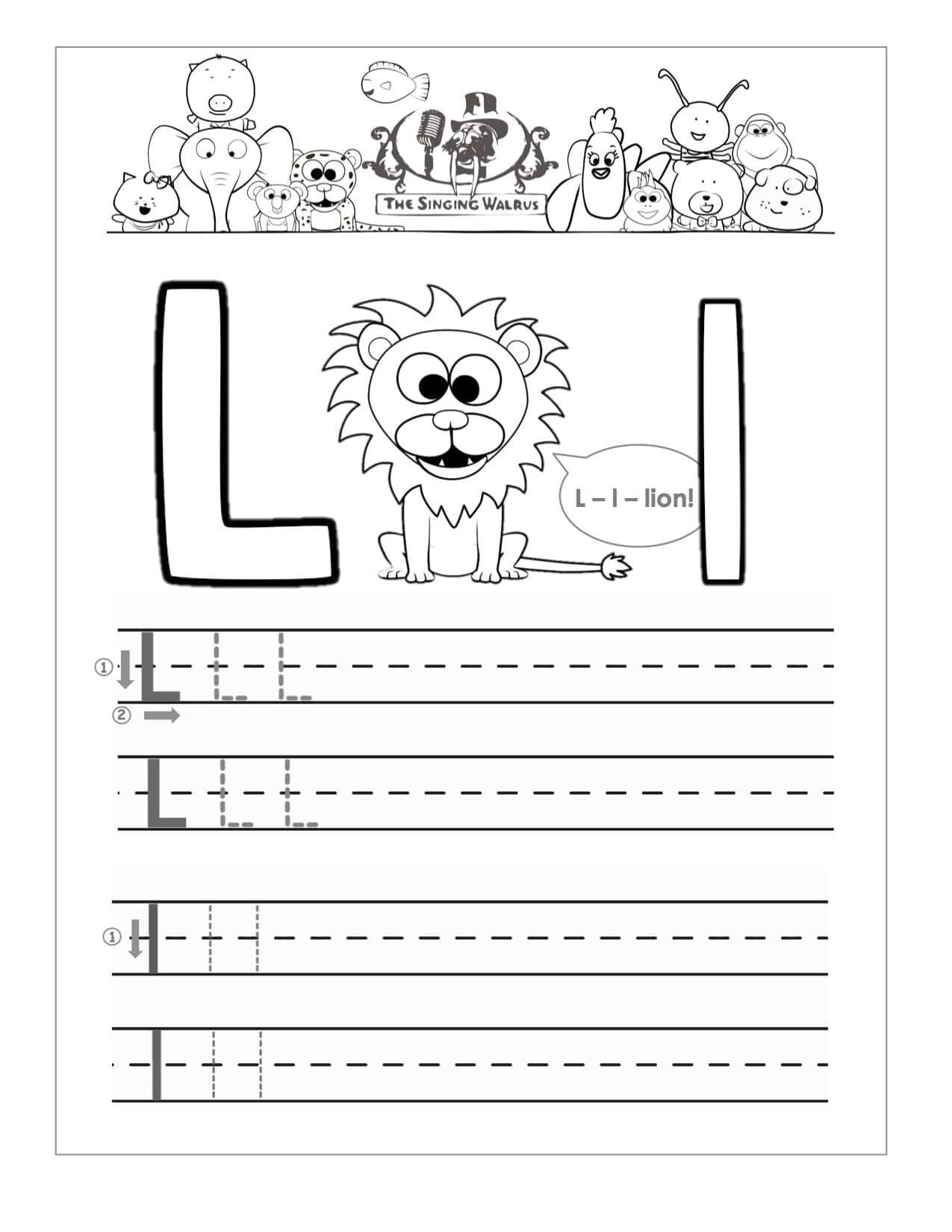Letter L Worksheets For Preschool In 2020 Free Handwriting Worksheets Free Handwriting Handwriting Worksheets