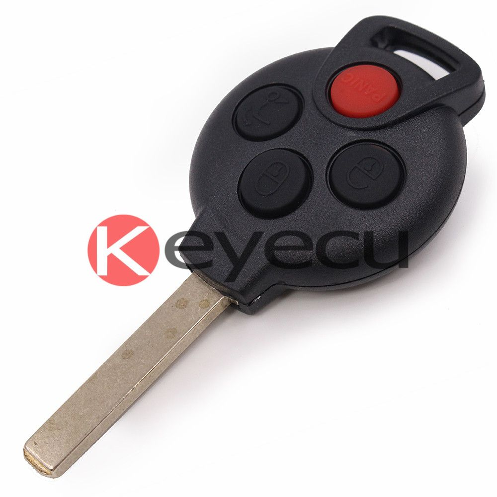 New Uncut Remote Key Shell Case Fob 4b For Smart Fortwo 450