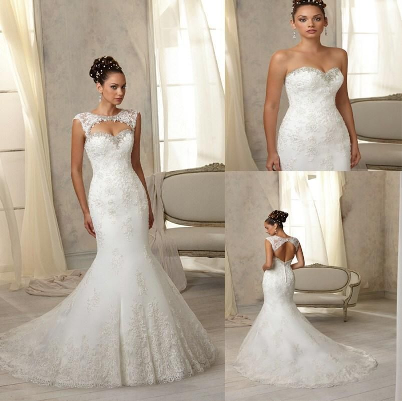 2014-new-arrival-sexy-sweetheart-strapless-mermaid-wedding-dresses-applique-beaded-bridal-gown-detachable-bolero-button-wedding-dress-online-with-11353piece-on-hjklp88s-store-dhgatecom.jpg (803×802)