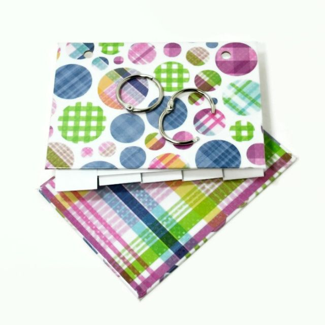 3 x 5 index card binder in a fun #plaid design! Great to use