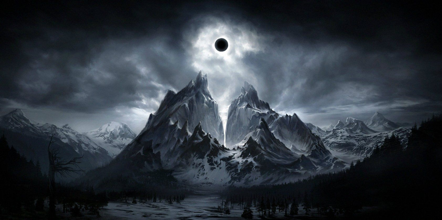 Epic Fantasy Wallpapers Dark Background Dark Landscape Fantasy Landscape Landscape Wallpaper