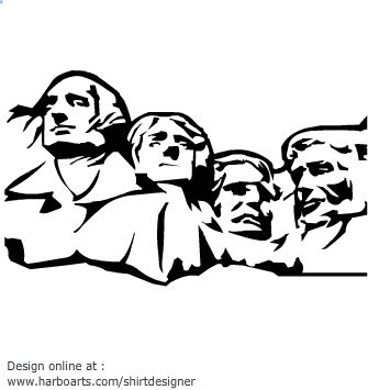 Vector Artwork Of Mount Rushmore National Memorial Which Is A