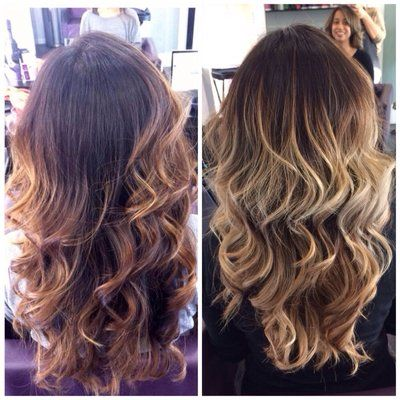 Balayage highlights before and after styled by laura before and balayage highlights before and after styled by laura before and after cut and pmusecretfo Image collections