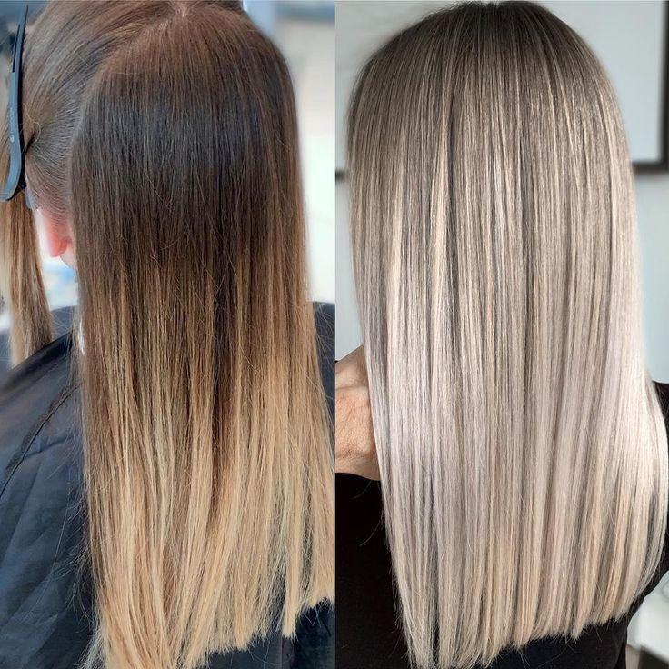 Hair Transformation #haircolor #hairstyle #haarfarbe #frisuren – Haircolor #ha…