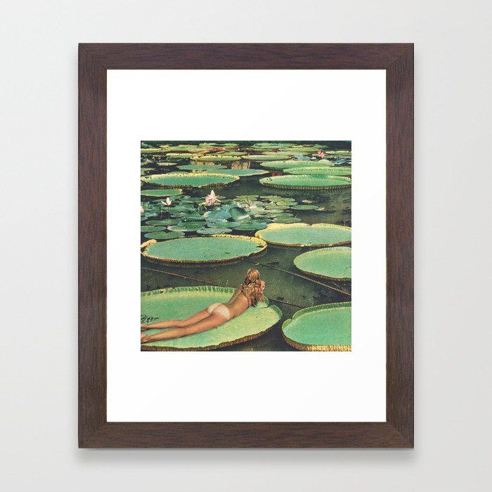 15,134 LILY POND LANE Framed Art Print FRAMED ART PRINT Best selection of collage, abstract, modern, nature, funny, pink, black and white, vintage pictures, hippie and trippy framed art prints for DIY aesthetic decor. Ideas for guys or girls design for campus living in the bedroom, living room or college dorm room. Horizontal, vertical, small, medium or extra large #dormroomdecor #artprint #wallart #collegedorm
