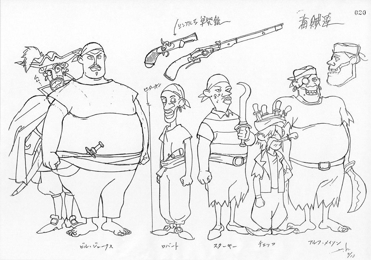 Peter pan no boken character design design de