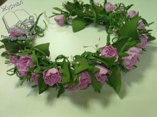 Сделать свадебные цветы на голову своими руками 110