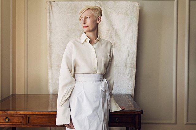 The breathtaking Tilda Swinton. See more of Vanity Fairs 2017 #Cannes Film Festival portfolio at the link in bio.  @justbish  via VANITY FAIR MAGAZINE OFFICIAL INSTAGRAM - Celebrity  Fashion  Politics  Advertising  Culture  Beauty  Editorial Photography  Magazine Covers  Supermodels  Runway Models