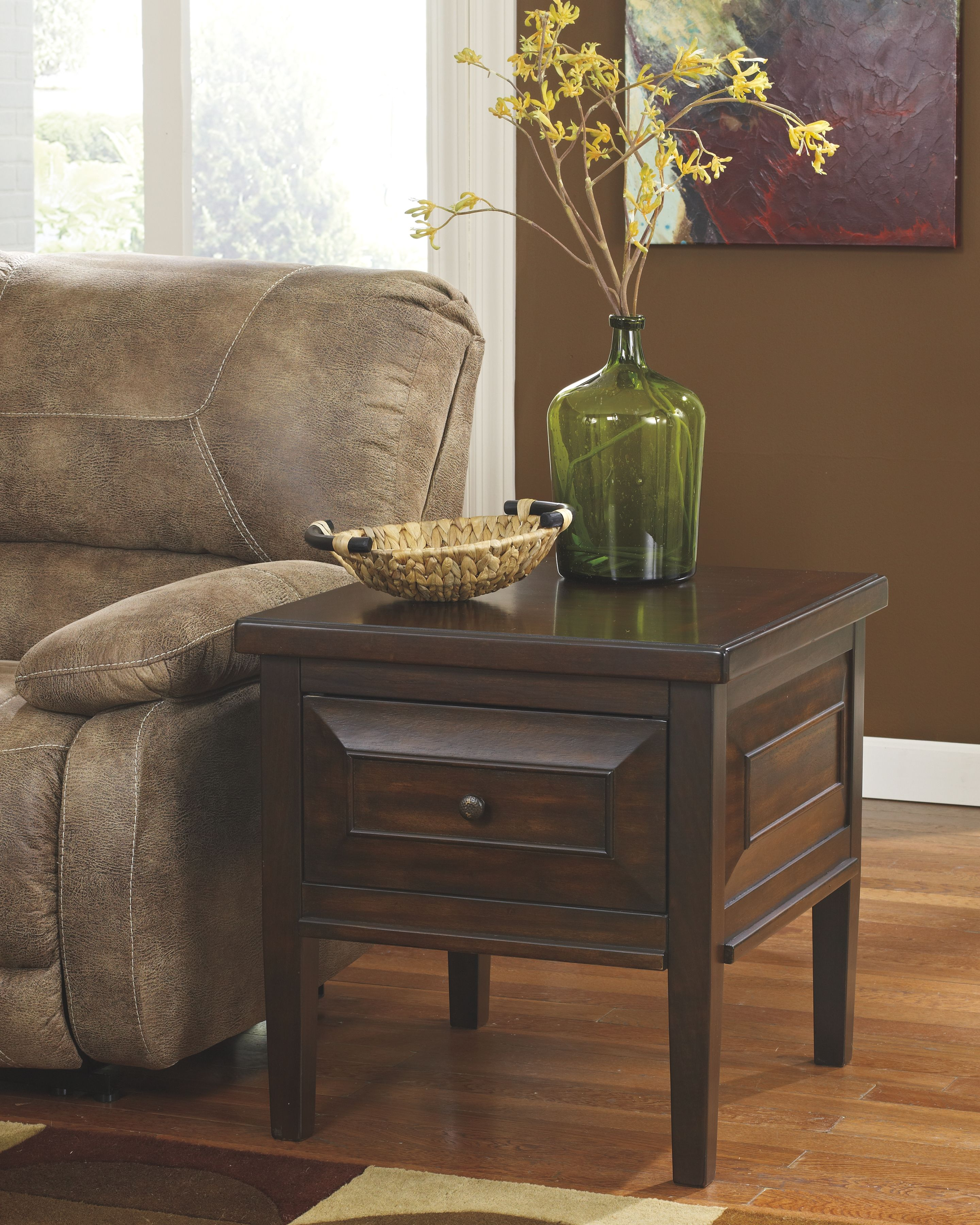 Hindell Park End Table, Rustic Brown Furniture, End
