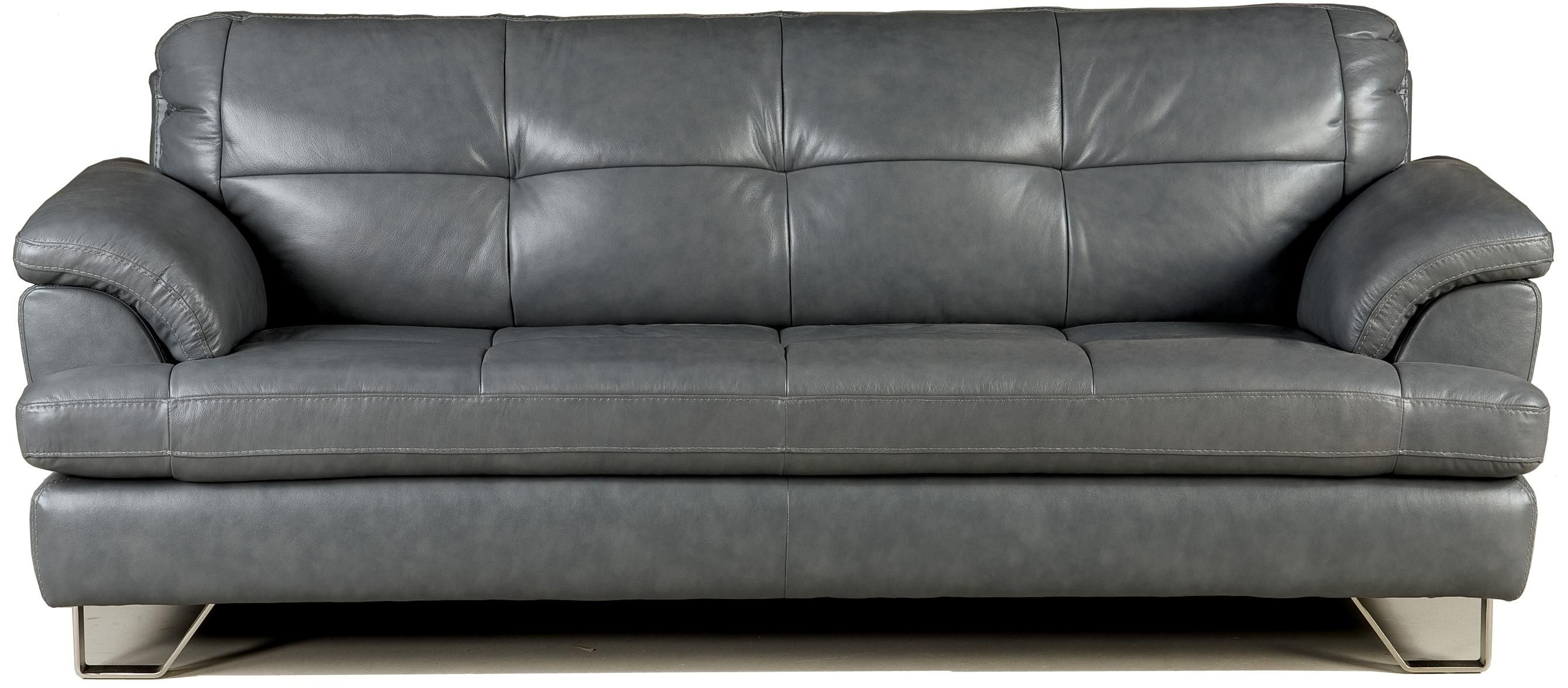 Ashley millennium gunter thunder modern sofa with tufting metal feet miskelly furniture sofa jackson mississippi