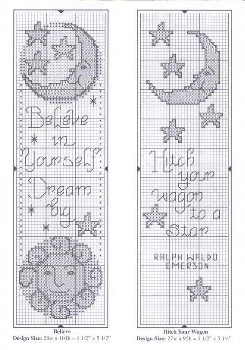 Схемы вышивок закладок