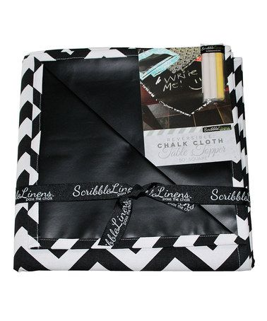 Take a look at this Black Chevron Table Topper by Scribble Linens on #zulily today!