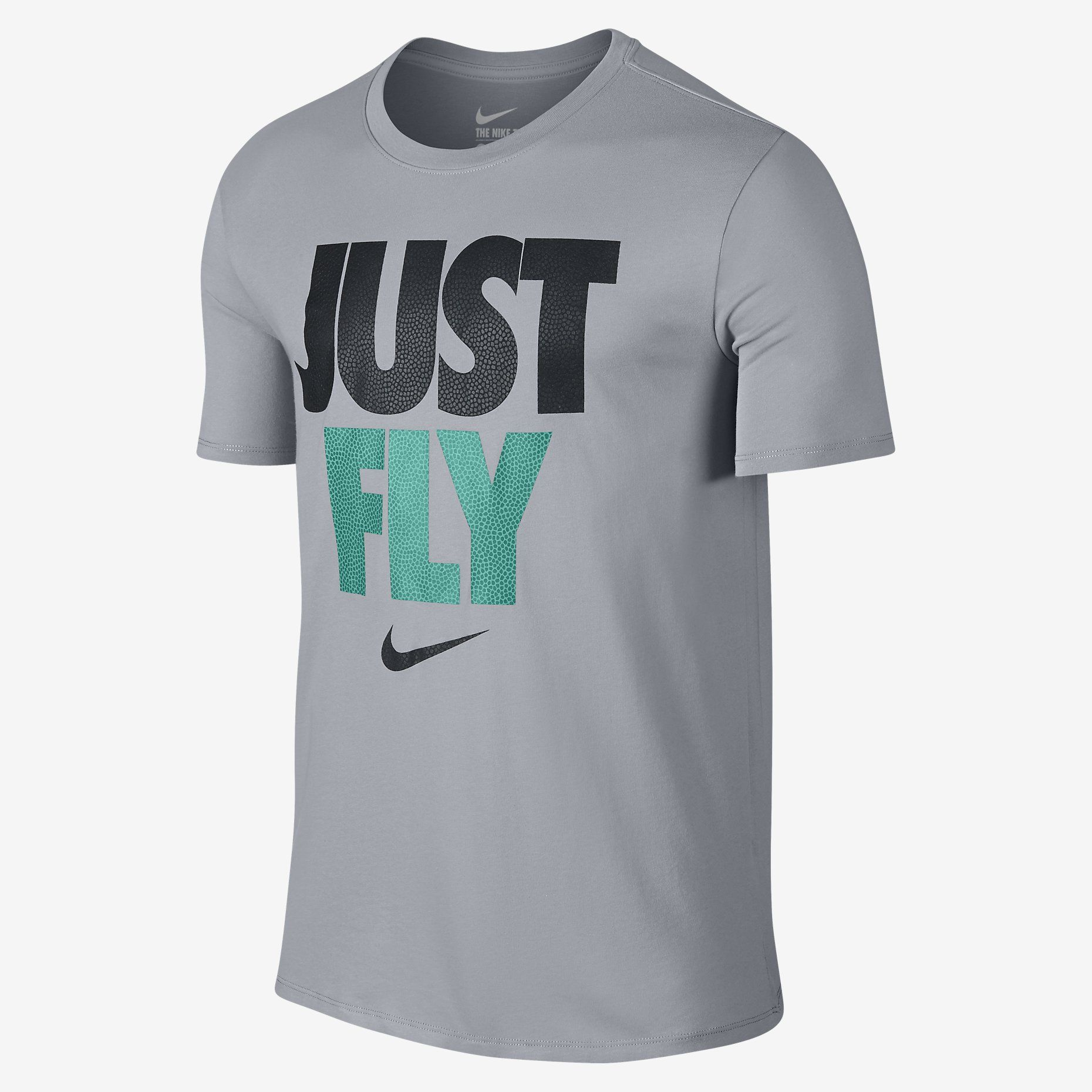Camiseta Sportswear Nike Just Do It Cinza e Preta