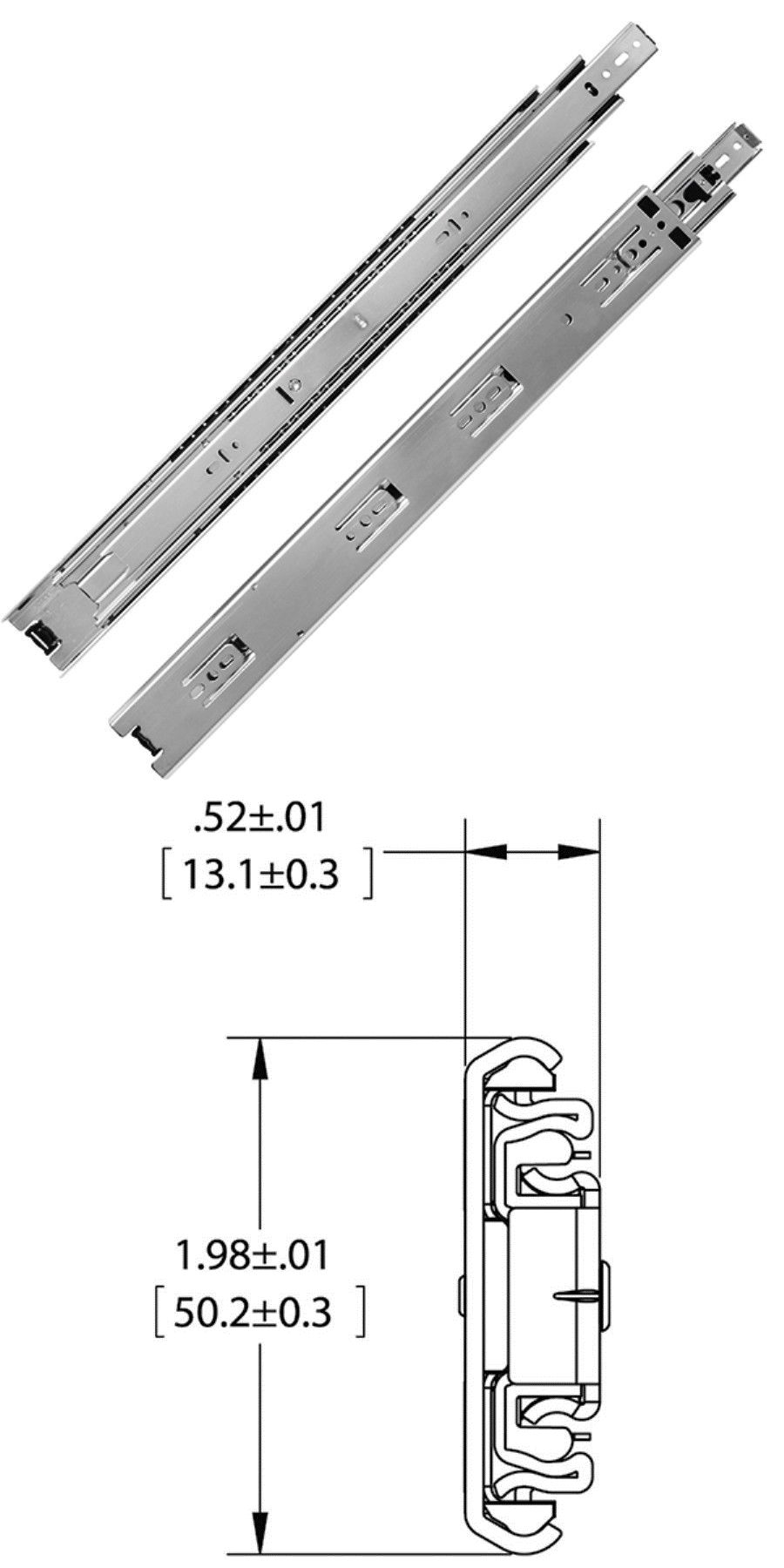 Details About Kv Full Extension 150lb Drawer Slide Kv8600 Precision Ball Bearing Side Mount Drawer Slides Slide Drawers