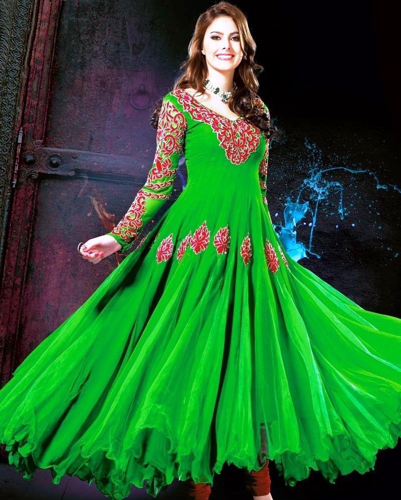 67da29150f2 Latest Stylish and Fancy Indian Umbrella Frock Designs 2014-2015