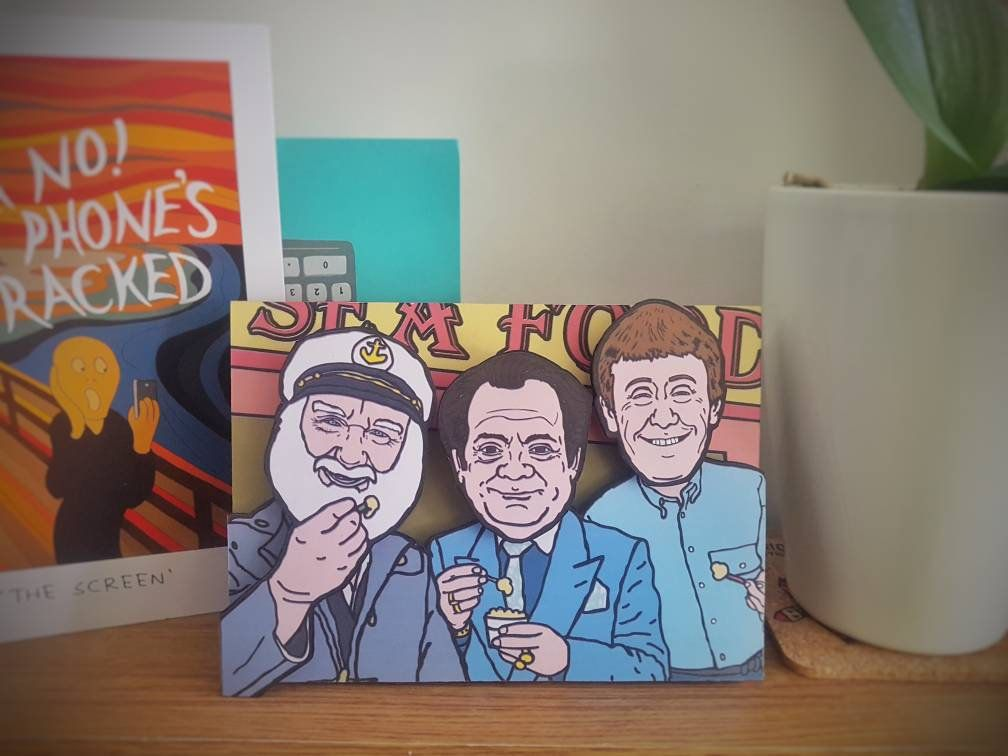 Handmade 6x4 3d Effect Only Fools And Horses Inspired Greeting Etsy Greeting Cards Handmade Only Fools And Horses Handmade Greetings