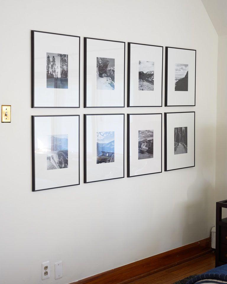 The One Room Challenge Week 4 Gallery Grid Gallery Wall Black