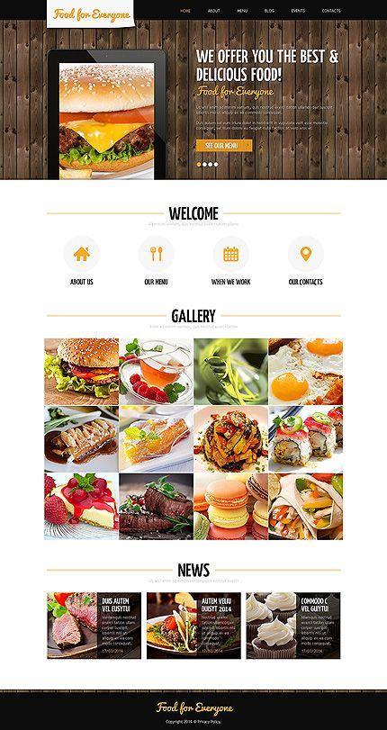 template 48803 food restaurant responsive joomla template