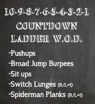 10 To 1 Countdown Ladder Interval Workout I Work Out Wod