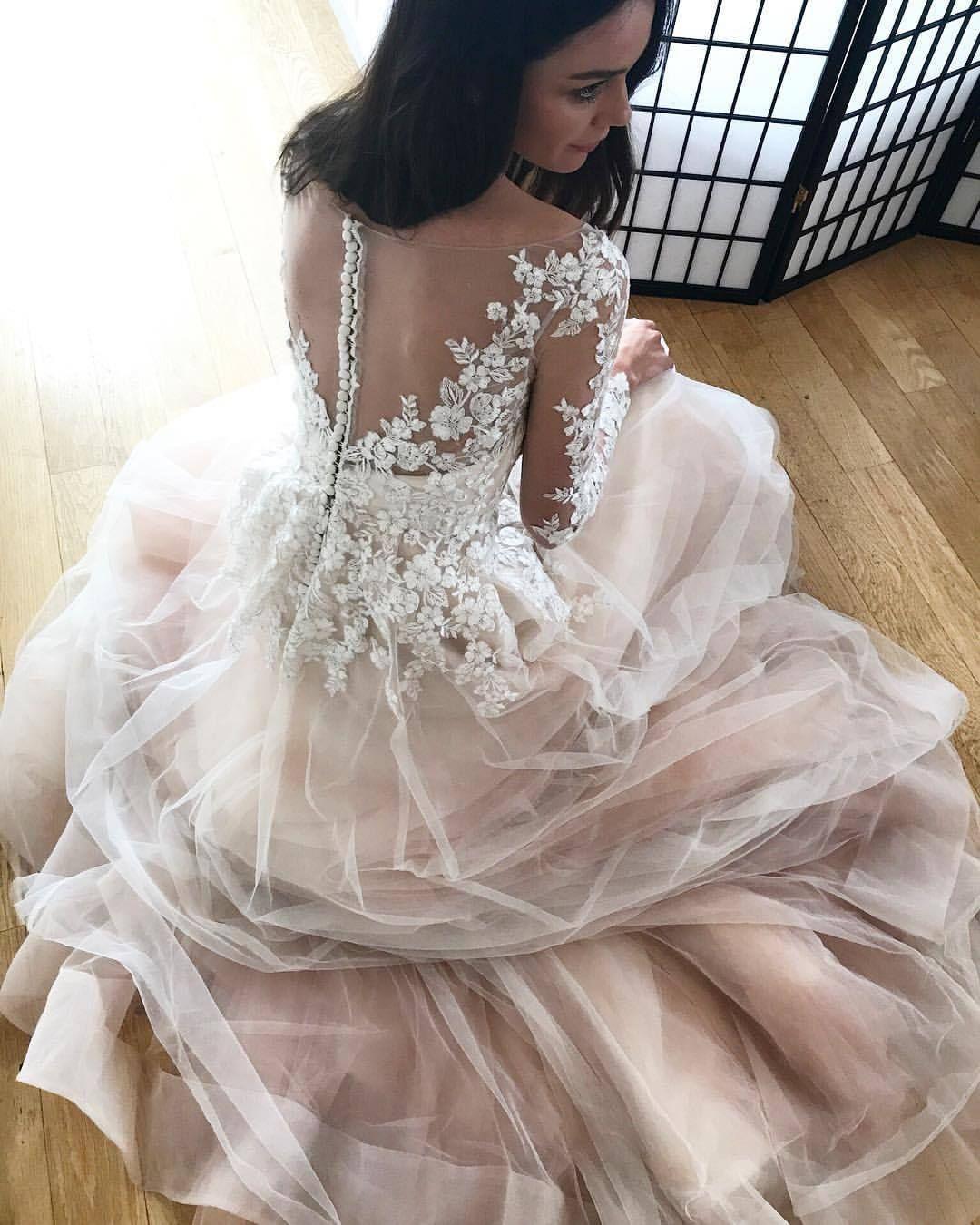 Something new something blue blush wedding dresses blush