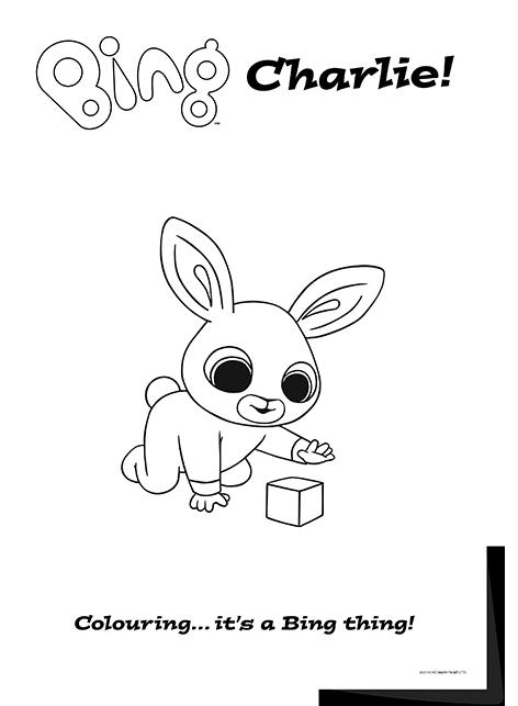 Bing lineart Charlie Bing Bunny Bing bunny Bunny