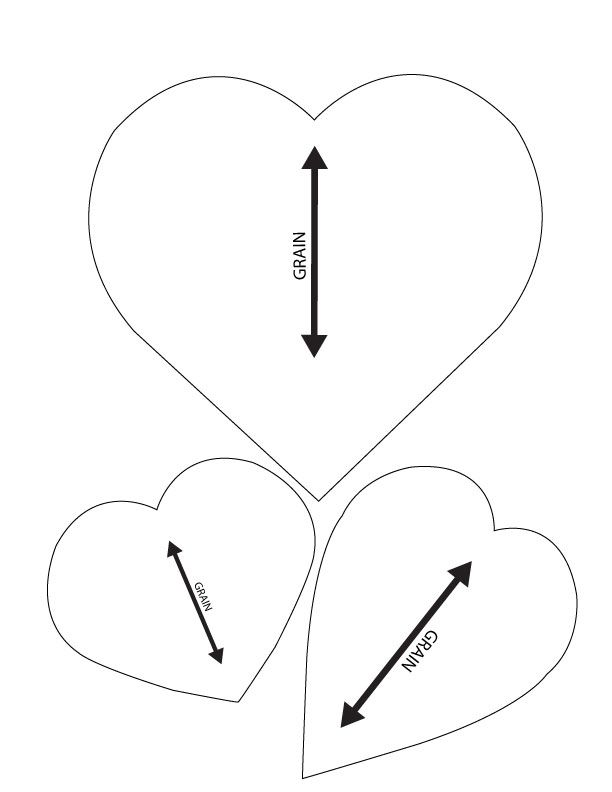 Heart Templates For Sewing Small Pillows