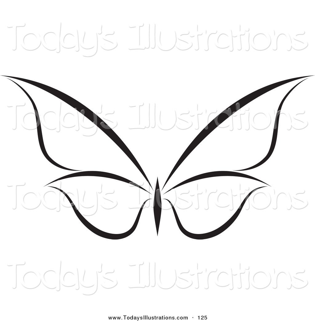 White butterfly clipart