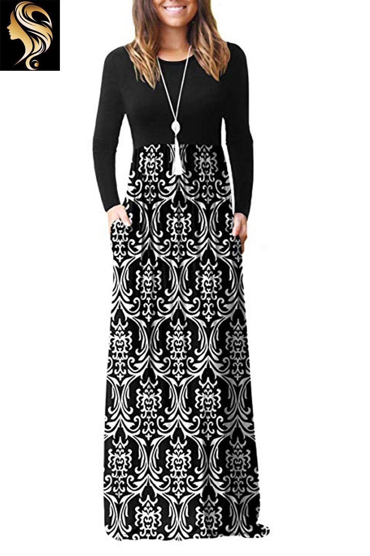 Dearcase Women Long Sleeve Loose Plain Maxi Pockets Dresses Casual Long Dresses Casual Dresses For Women Long Dress Casual Pocket Dresses Casual [ 1500 x 1000 Pixel ]