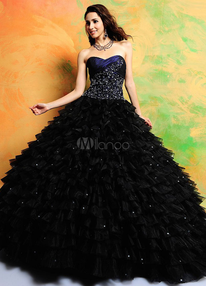 Save Up to 50% on Sale items. Elegant Ball Gown Black Strapless ...
