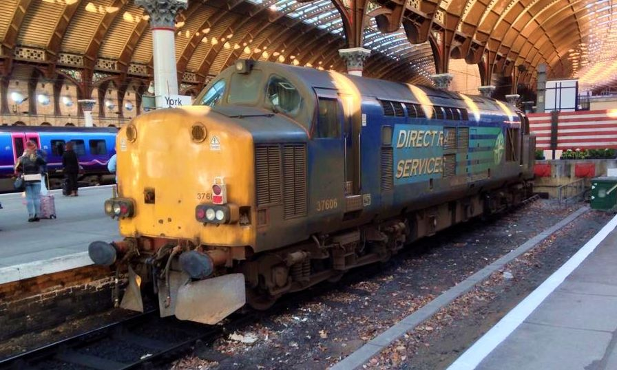 37606 (ex D6790, 37090, 37508) at York on 19th Dec 2014. (Chris Wilson)