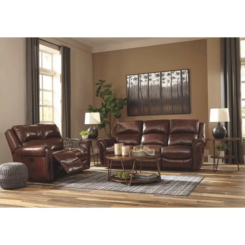 Dunford Leather Reclining Sofa Reclining Sofa Loveseat Living Room Living Room Sets
