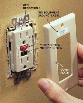 How To Make Two Prong Outlets Safer Home Electrical Wiring Diy Home Repair Gfci