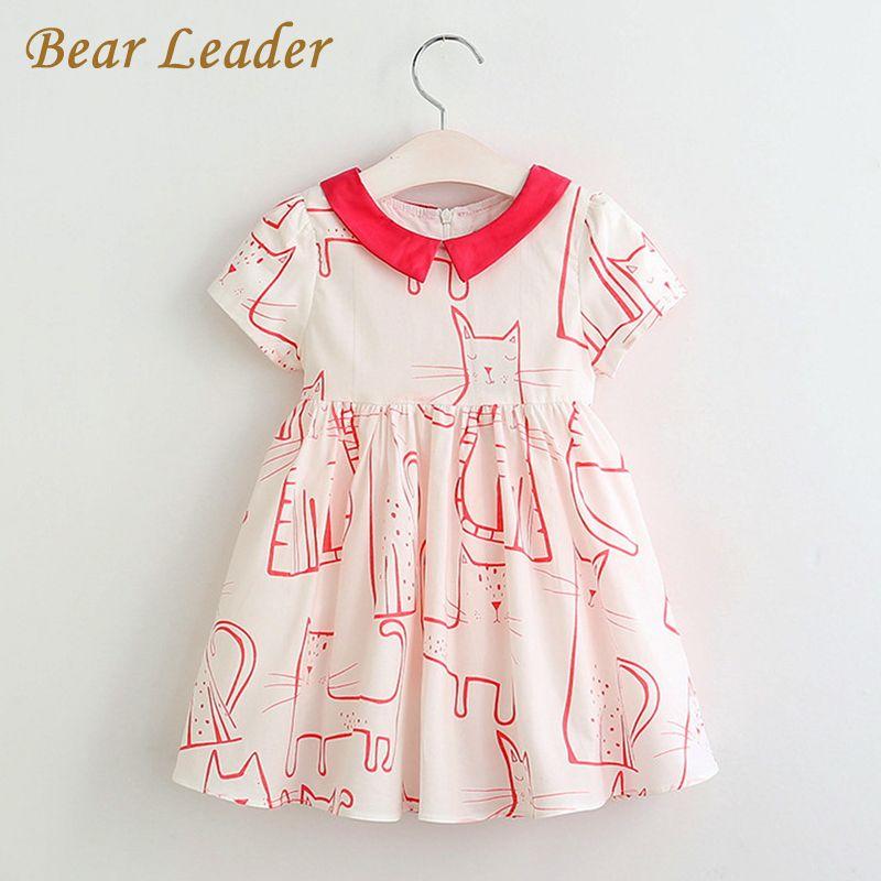 6299e0185a30 Bear Leader Red Short Sleeve Animal Print Design Dress Price  18.00 ...