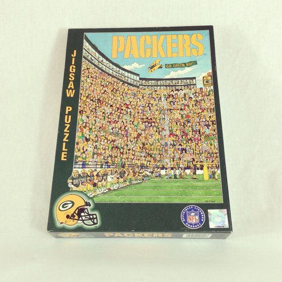 7ec3562b828 Vintage Green Bay Packers Jigsaw Puzzle By by GreenAndGoldWithEnvy ...