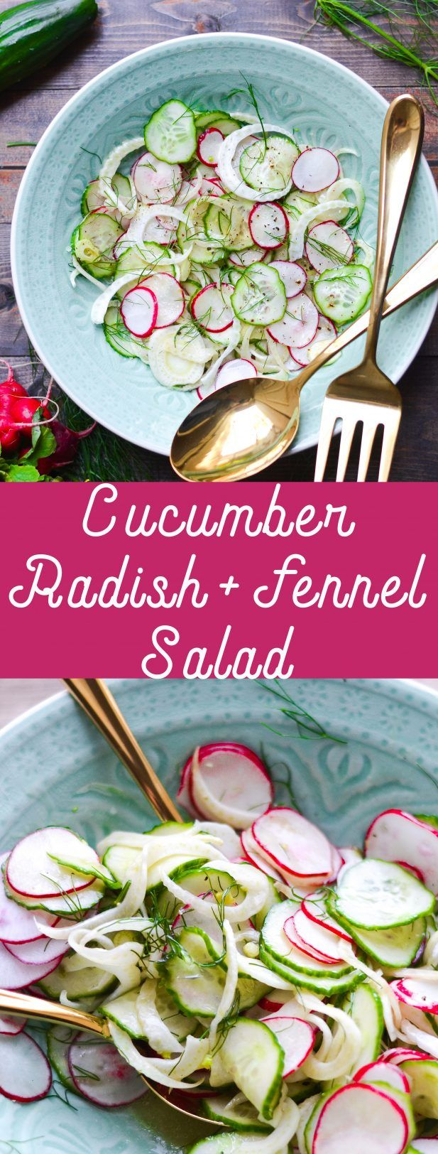 Cucumber Radish And Fennel Salad With Mandarin Vinaigrette