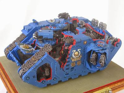 Spikey Bits Warhammer 40k, Fantasy, Conversions and Painted Miniatures: How Things Work- Cut Away Land Raider Model