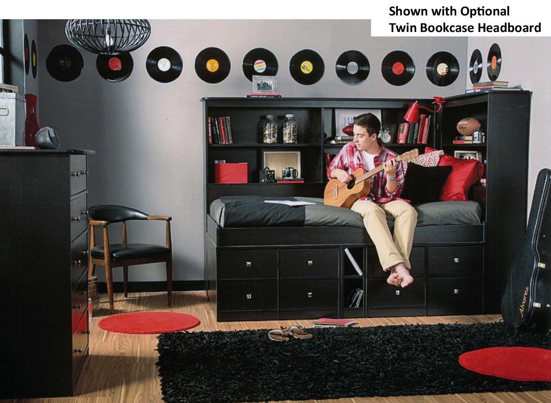 Berg Furniture Jr Captains Bed with Black Sable Finish  22 950 82 Sierra. Berg Furniture Jr Captains Bed with Black Sable Finish  22 950 82
