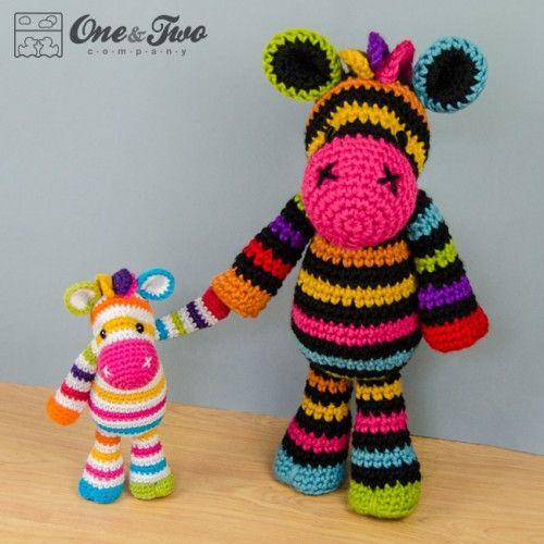 Rainbow zebra amigurumi crochet pattern by one and two company rainbow zebra amigurumi crochet pattern by one and two company dt1010fo